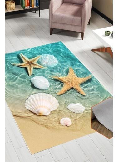 Belemir Belemir K393 Deniz Yıldızı Dekoratif Yıkanabilir Halı Renkli